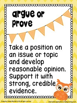 Constructive Response Vocabulary Posters