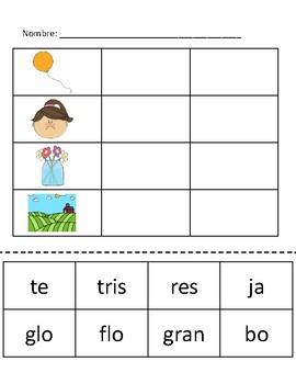 Construir palabras * Sílabas trabadas   Building words * Blends in Spanish