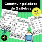 Construir palabras con 2 sílabas (Word Work Spanish two syllable words)