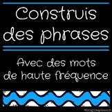 Construis des phrases // French Build a Sentence