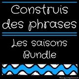Construis des phrases - Les saisons // French Build a Sentence Bundle