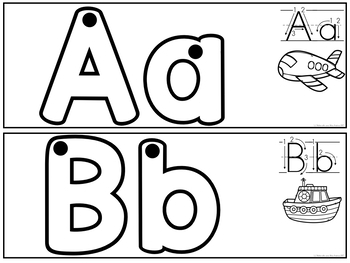 Construisons les lettres - Cartes (FRENCH B & W Letter Formation Cards)