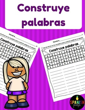 Construye Palabras (Find or Make a Word Fast Finisher Spanish)