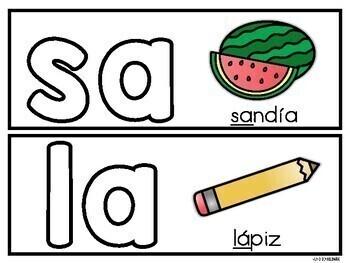 """Construye las Sílabas con """"a"""" - FREEBIE"""