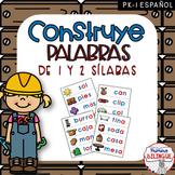 Construye palabras de 1 y 2 sílabas