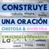 Construye una oración: Practica adjetivos, sustantivos, ve
