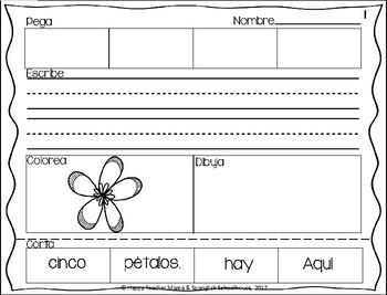 Construyendo Oraciones {Abril} - Spanish Sentence Building {April}