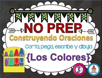 Construyendo Oraciones {Los Colores} - Spanish Sentence Building {Color Words}