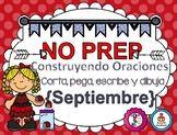 Construyendo Oraciones {Septiembre} - Spanish Sentence Building {September}