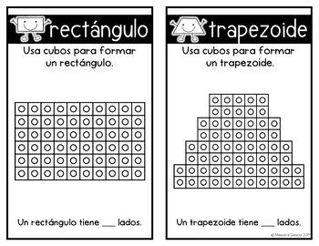 Construyendo las figuras con cubos (Building Shapes with cubes)