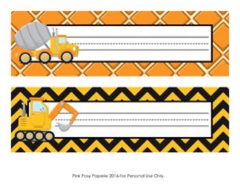 Constuction Trucks Desk Name Plates