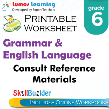 Consult Reference Materials Printable Worksheet, Grade 6