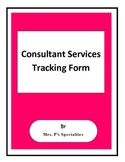 Consultant Services Tracking form **FREE**