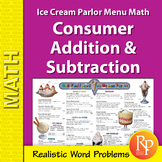 Consumer Addition & Subtraction: Ice Cream Parlor Menu