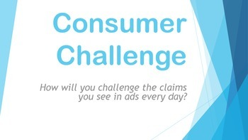 Consumer Challenge - Introduction, Proposal to Test and Presentation