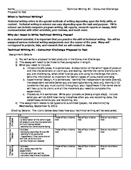 Consumer Challenge - Proposal To Test - Technical Writing Assignment