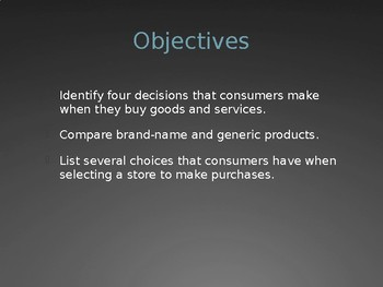 Consumer Choice - Intro to Business Ch. 22