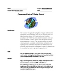 Consumer Cost of Going Green PowerPoint Project