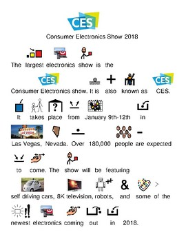 Consumer Electronics Show 2018 - picture supported text lesson review