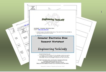 Consumer Electronics Show Research Worksheet