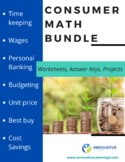 Consumer Math Bundle - Projects, Worksheets, and Answer Keys