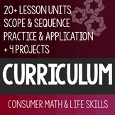 Consumer Math Curriculum Bundle + 4 Projects - Special Education Life Skills