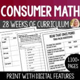 Consumer Math Curriculum Bundle + 4 Projects - Special Edu