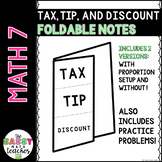 Consumer Math Foldable Interactive Notebook INB Notes