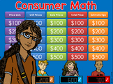 Consumer Math Jeopardy Style Game Show