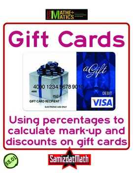 Percent Discounts and Markups: Gift Cards Ripoffs!