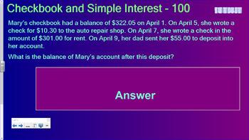 Consumer Math Jeopardy (VA SOL 8.3)