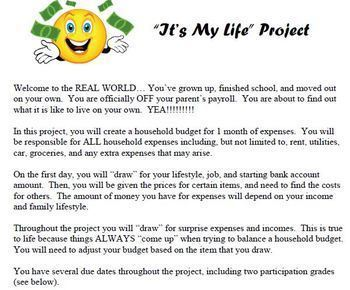 "Consumer Math ""Life"" Budget BUNDLE - Great financial literacy unit"