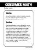 Consumer Math - Review Sudoku