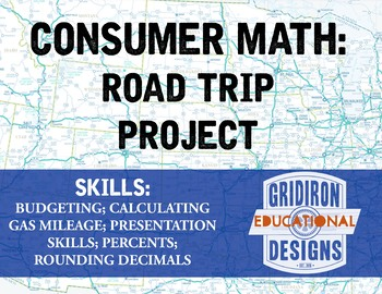 consumer math road trip project by gridiron design and education