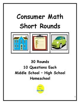Consumer Math Short Rounds