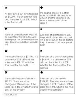Consumer Math Sum Em Activity