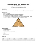 Consumer Math: Tips, Mark-Ups, etc. Game Puzzle with Worksheet