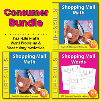 Consumer Math Word Problems & Vocabulary {Bundle}