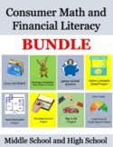 Consumer Math and Financial Literacy Activities & Projects BUNDLE