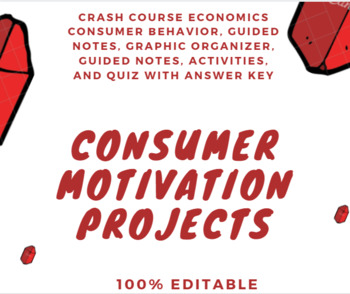 Consumer Motivation Complete Unit incl Guided Notes, Activities, Graphic Organ