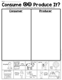 Consumer OR Producer Sort Sheet {Economics} First Grade & Kindergarten