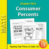 Consumer Percents: Discounts & Sales Tax Word Problems