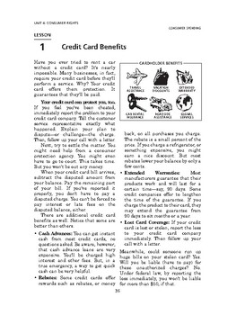 Consumer Spending: Consumer Rights-Credit Card Benefits