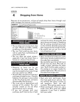 Consumer Spending: Shopping for Goods-Shopping from Home