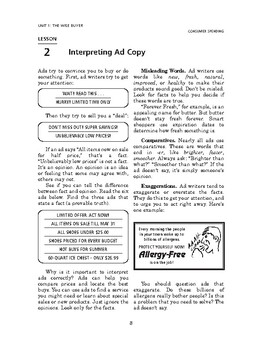 Consumer Spending: The Wise Buyer-Interpreting Ad Copy