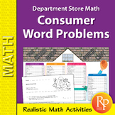 Consumer Word Problems & Menu: Department Store Math