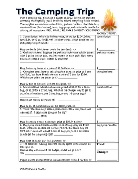 Consumer math activities - Money word problems fun, engaging (Gr.6-9)