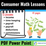 Consumer math lessons (41 pages, PDF Format)