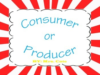 Consumer and Producer Social Studies Packet