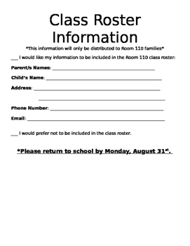Contact Information Form